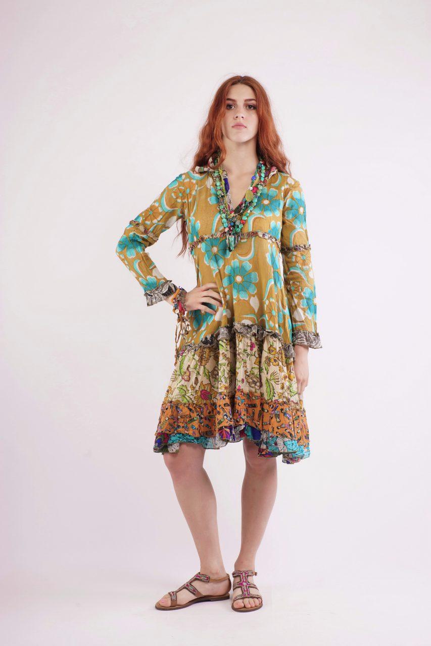 Gipsy dress Εβαζέ φόρεμα με μακρύ μανίκι – Bohostyle.gr 41e0a63a971
