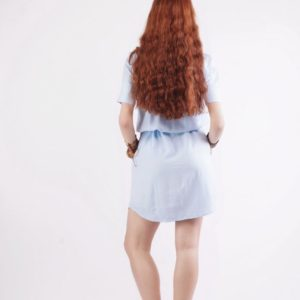 Light blue mini dress 1837 2