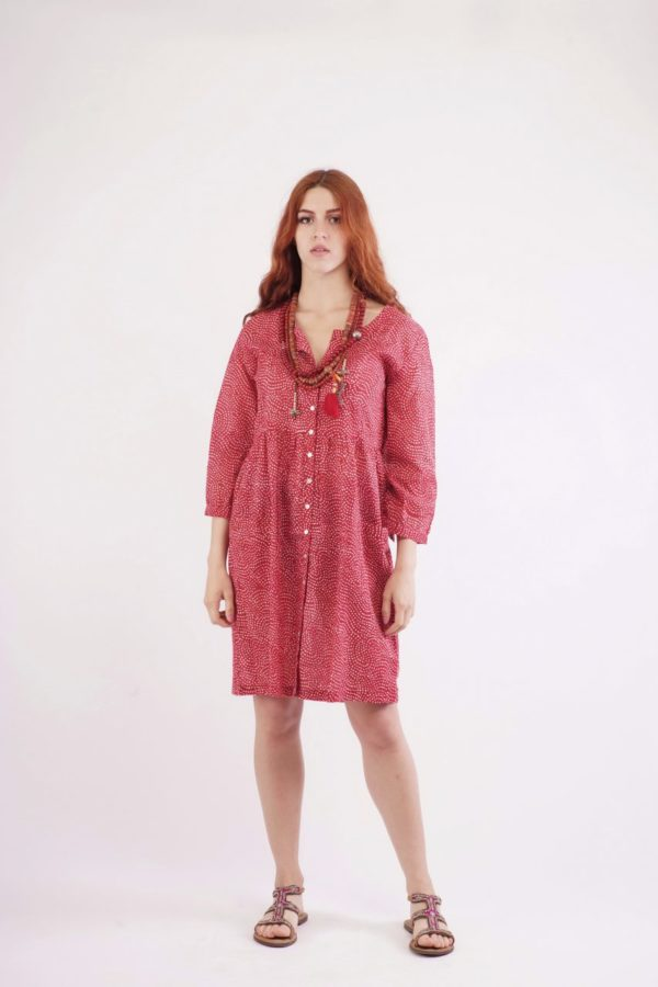 Κόκκινο Πουά Φόρεμα 2
