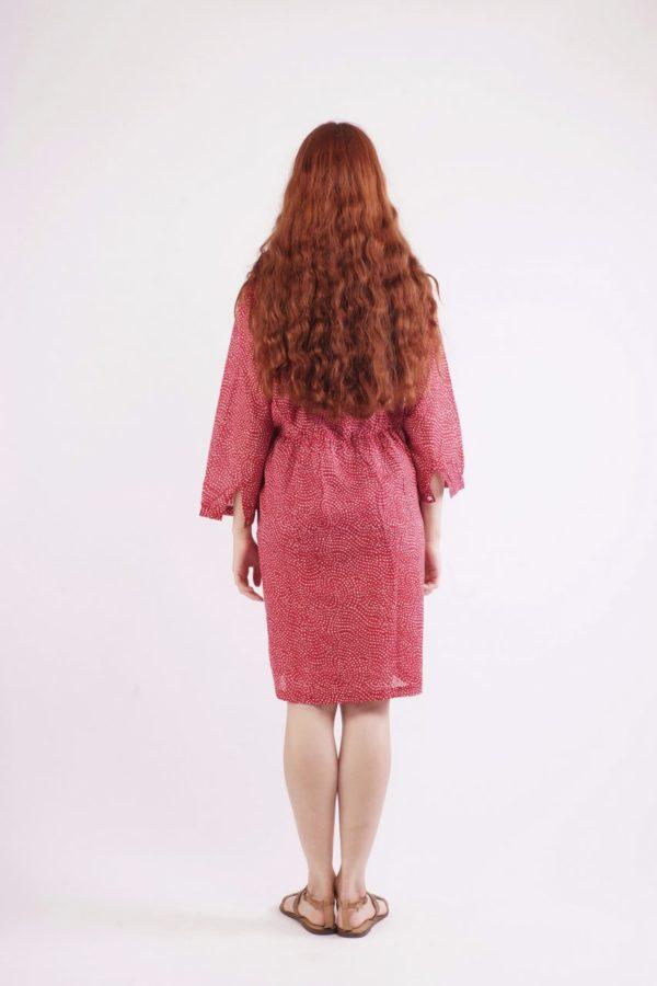 Κόκκινο Πουά Φόρεμα 3