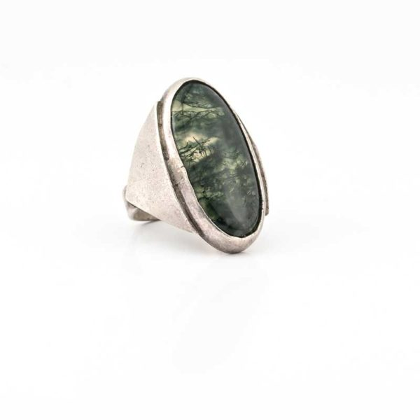 Handmade Silver (925) Boho Ring Greek with tree stone