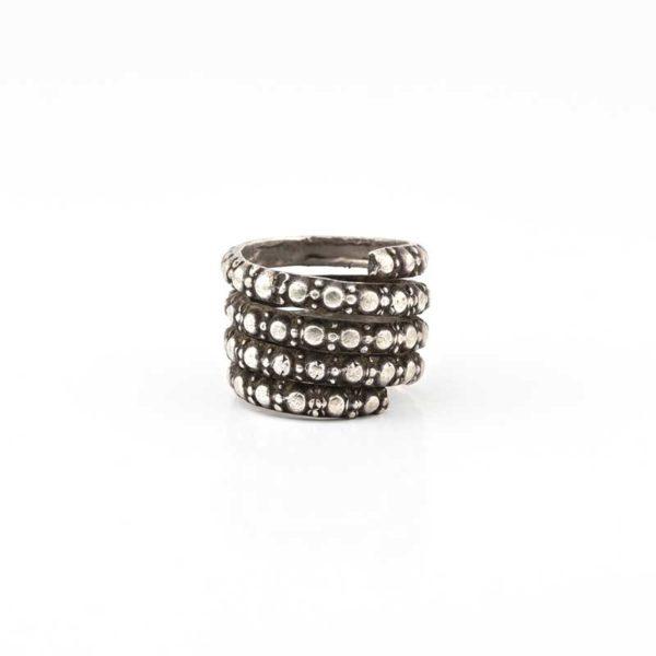 Handmade Silver (925) Black Boho Ring