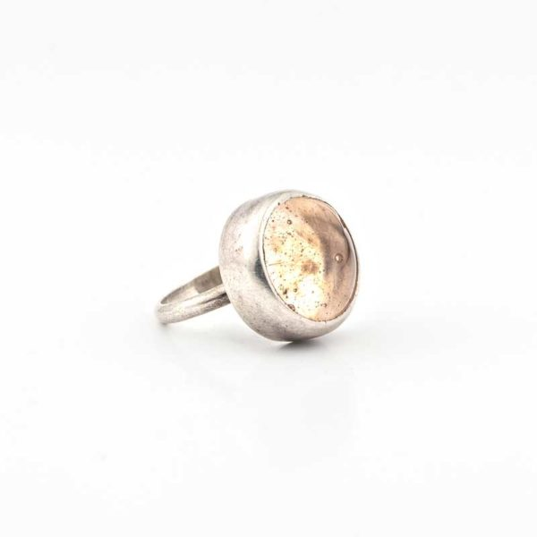 Handmade Silver (925) Boho Ring with glass stone