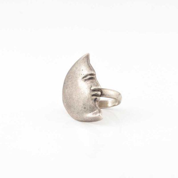 Handmade Silver (925) Boho Ring crescent shape
