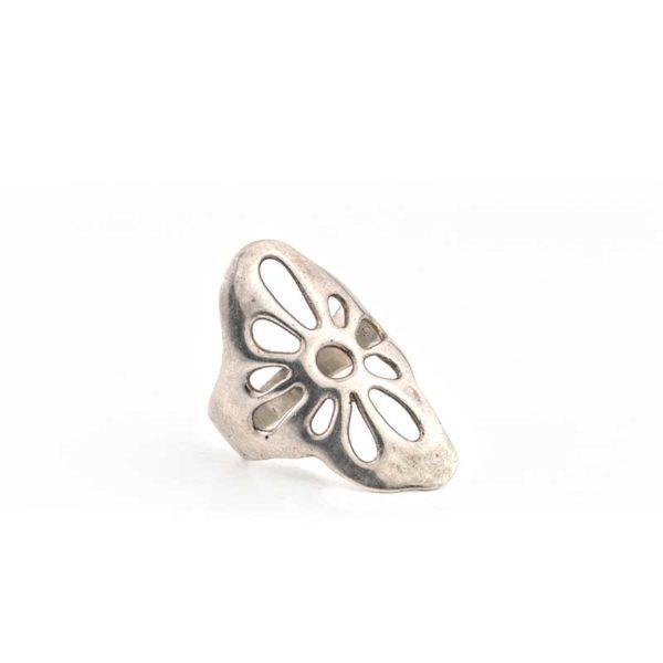 Handmade Silver (925) Flower Boho Ring
