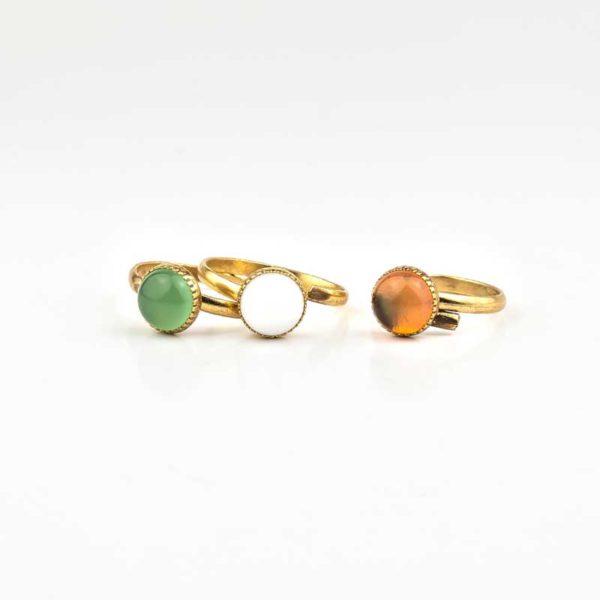 Boho Ring Made incopper with semi precious stones (tourmalines