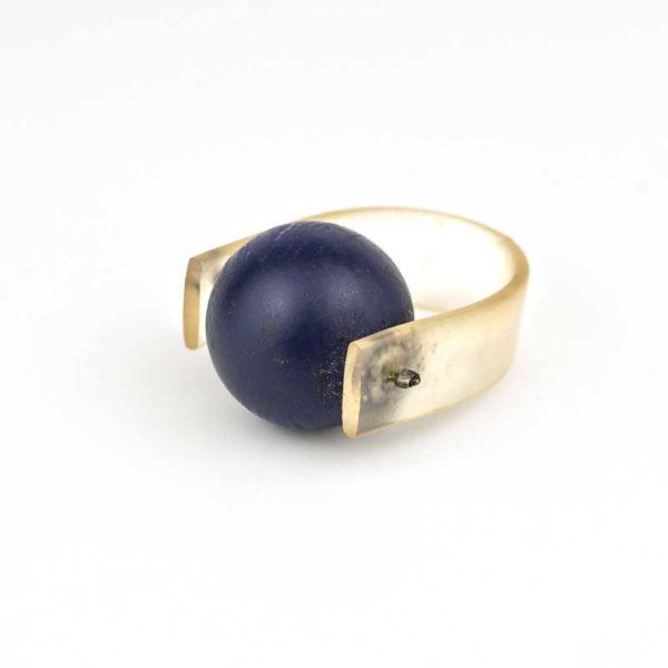 Boho Blue PVC ring