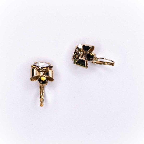 Faux copper and Zircon Boho Earrings