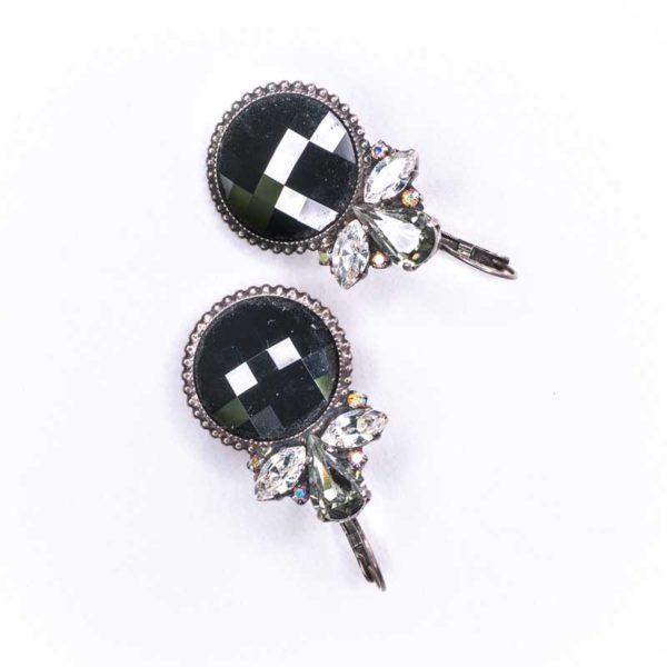 Boho Style Faux brass and Zircon Earrings