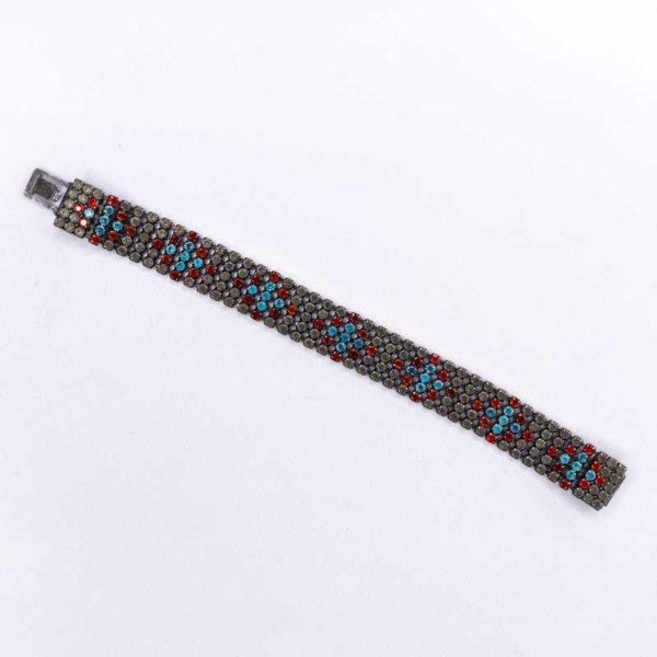 Handmade Boho Bracelet with red