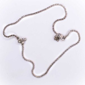Silver chain Anklet - Double wear (anklet or necklace)
