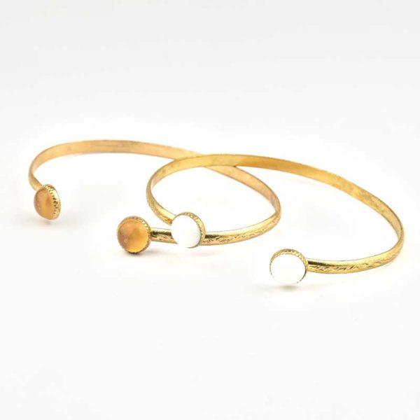Copper Boho Bracelet with semi precious agates
