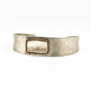 Handmade silver ((925)) Boho Bracelet with seashell