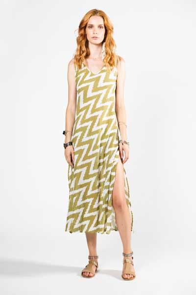 Lagoon Dress Για Παραλία Πράσινο Με Λευκές Φαρδιές Ρίγες