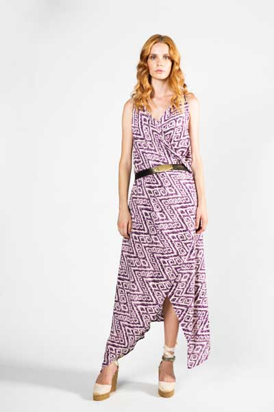 Μωβ Παρεό Φόρεμα - Βαμβακερό Παρεό -Φόρεμα