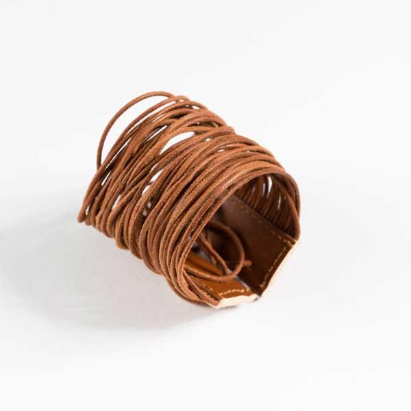 Boho Βραχιόλι. Natural Brown, Δερμάτινο βραχιόλι-custom made Leather Bracelets.