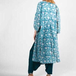Boho Style Summer Breeze Kimono Μπλε Εμπριμέ