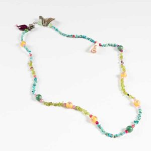 Boho Κολιέ Necklace With Turquoise Stones And Agates