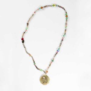 Boho Κολιέ. Assorted Semiprecious Stones Necklace.