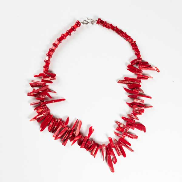 Boho Κολιέ. Coral Necklace  Bond With Silver.