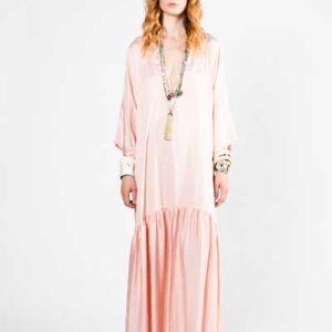 Pink Boho Dress Μάξι Φόρεμα