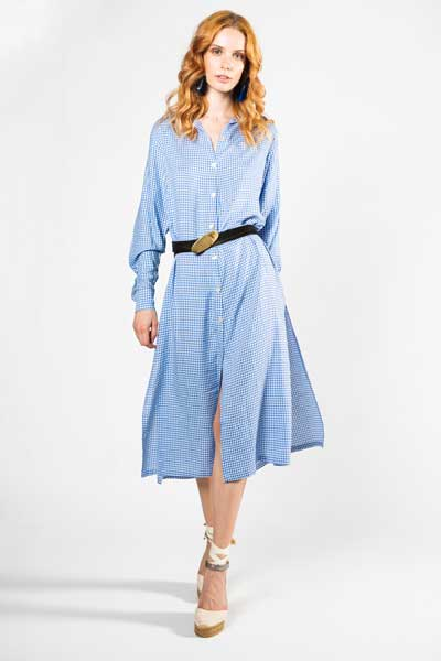 Serenity Πουκαμίσα- Φόρεμα Μικρό Καρό