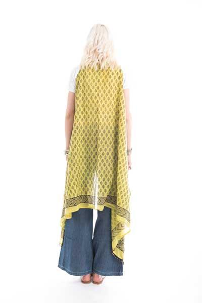 Ποντσο που φοριεται κ σαν ζακετα,από ινδικο βαμβάκι για όλες τις ωρες της ημέρας