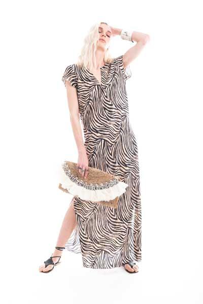 Για όλες τις ώρες της ημέρας, μακρύ φόρεμα, με μεγέθη